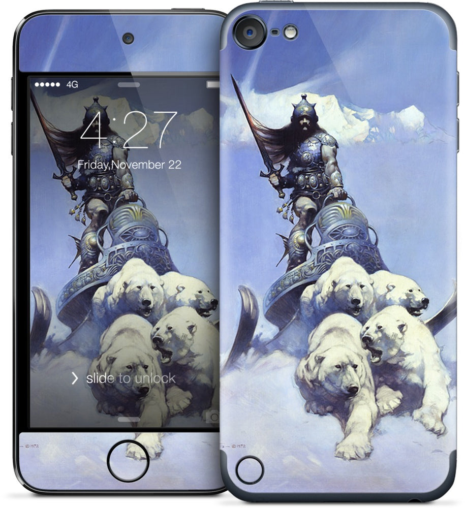 Silver Warrior iPod Skin