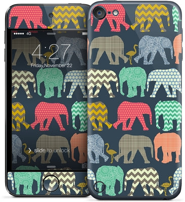baby elephants and flamingos iPod Skin