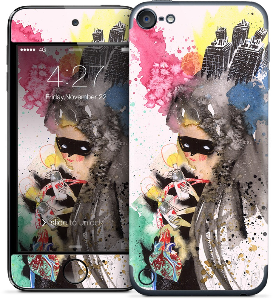 Skull Boom & Mysterious Paint Girl iPod Skin