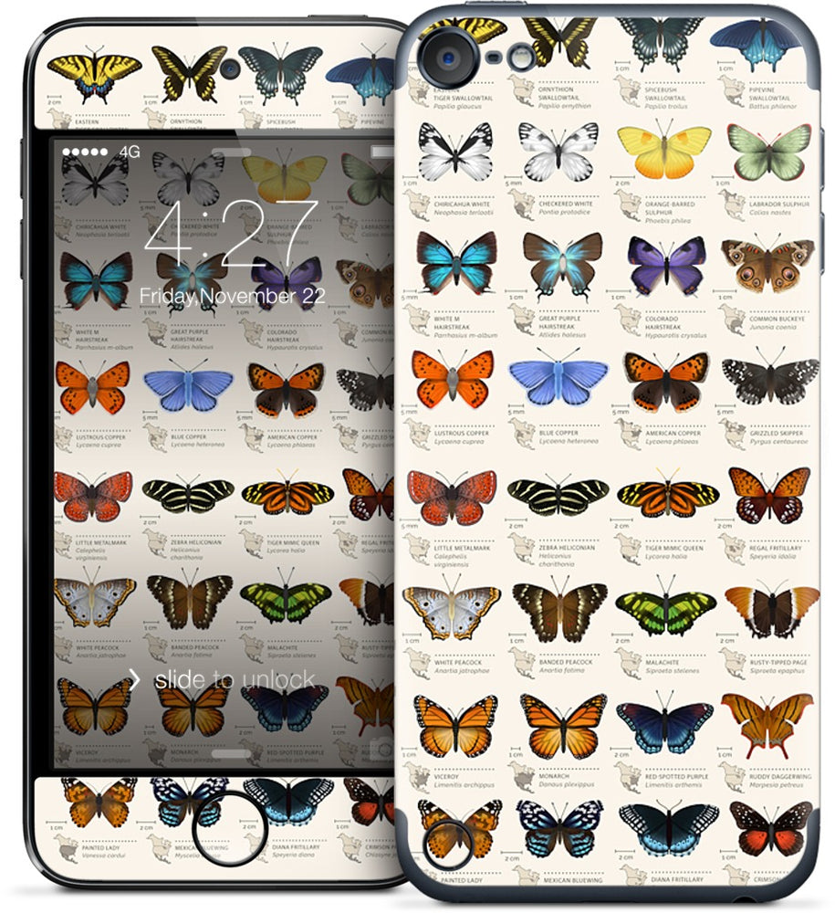 42 North American butterflies iPod Skin
