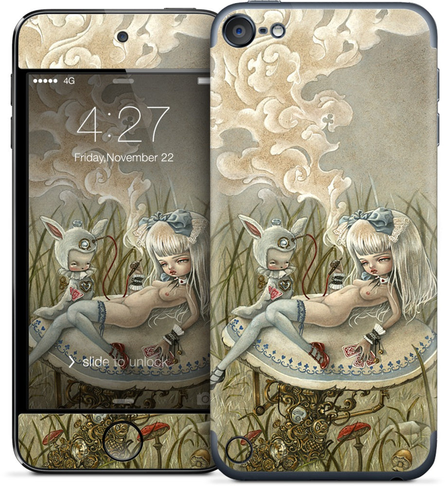 Alice and the Caterpillar iPod Skin