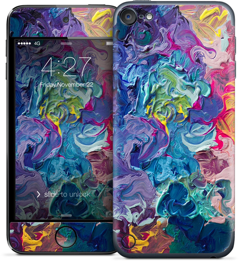 Rainbow Flow Abstract iPod Skin