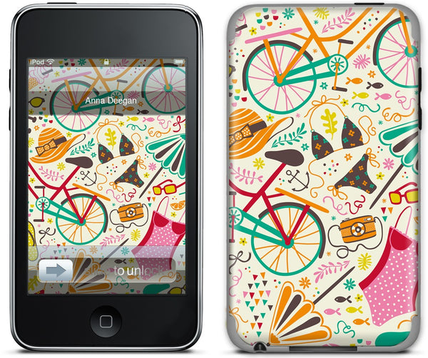 Seaside Cycle iPod Skin