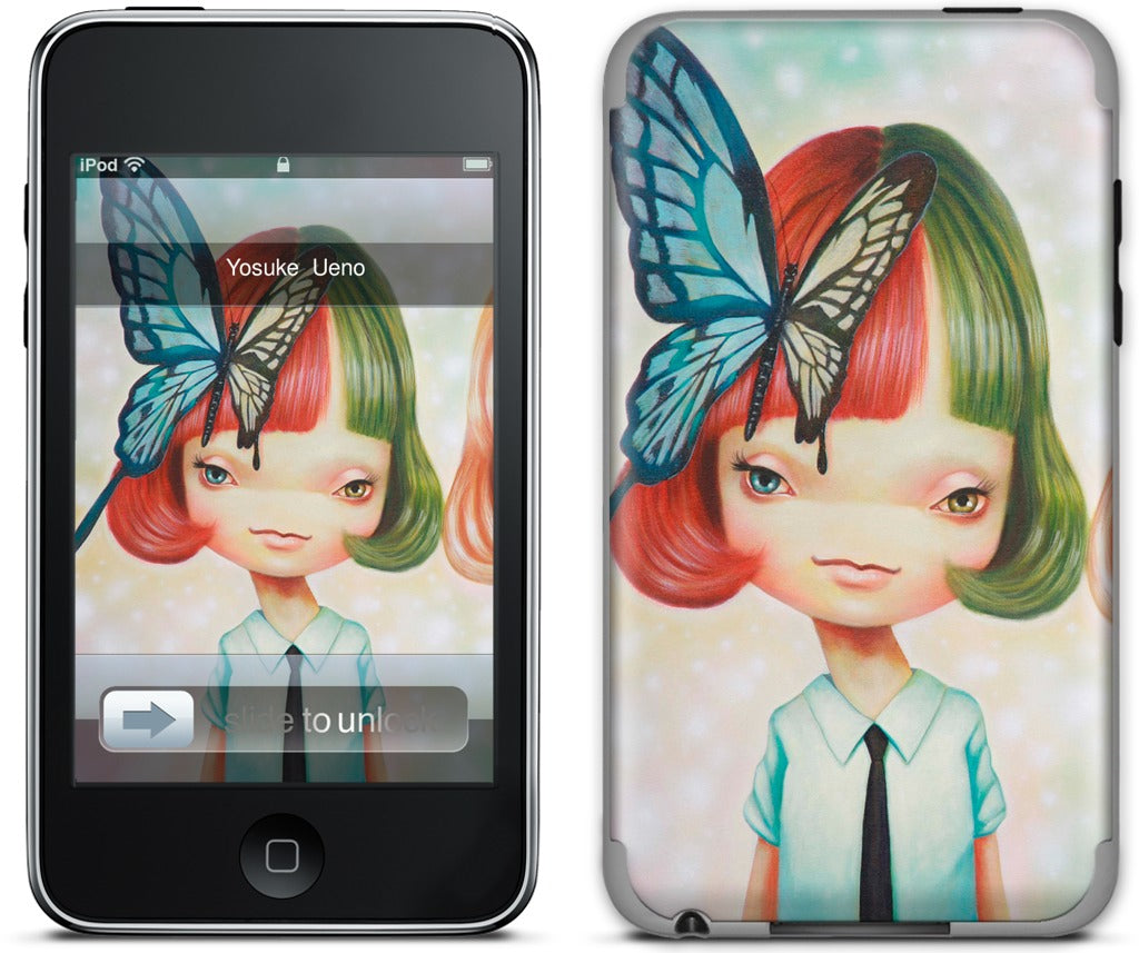Scissors and Butterfly iPod Skin