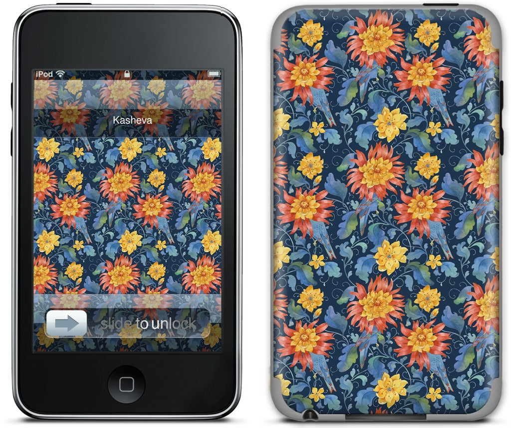 Blue Bird Pattern iPod Skin