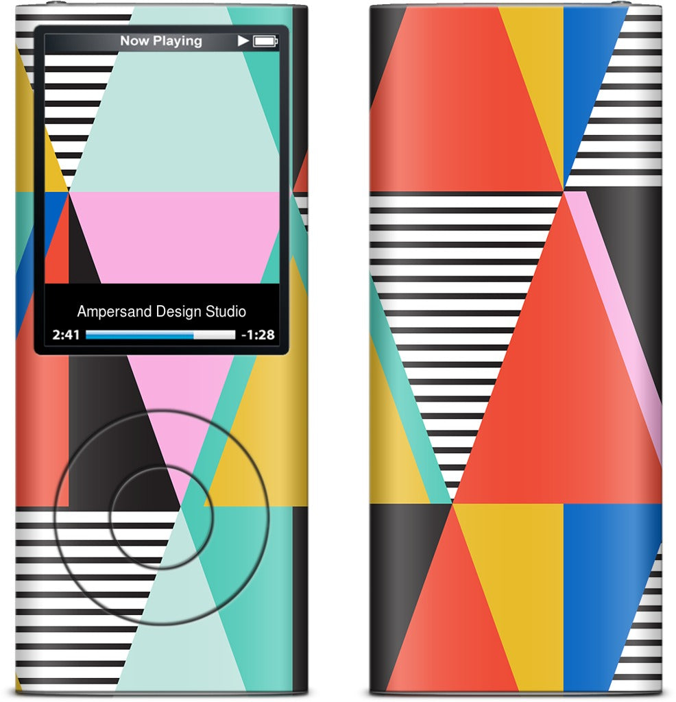 Graphic Triangles iPod Skin