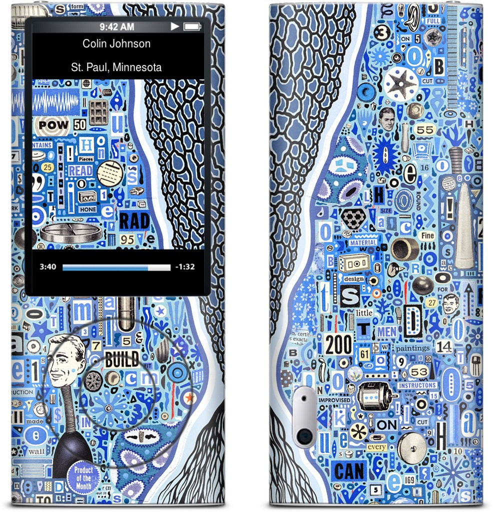 The Blue Thread iPod Skin