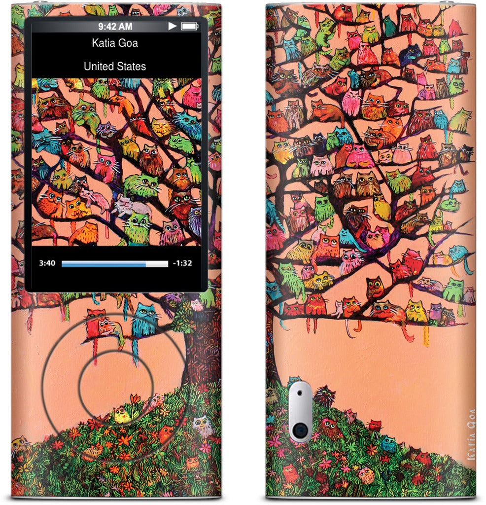 """Meau Tree"" iPod Skin"