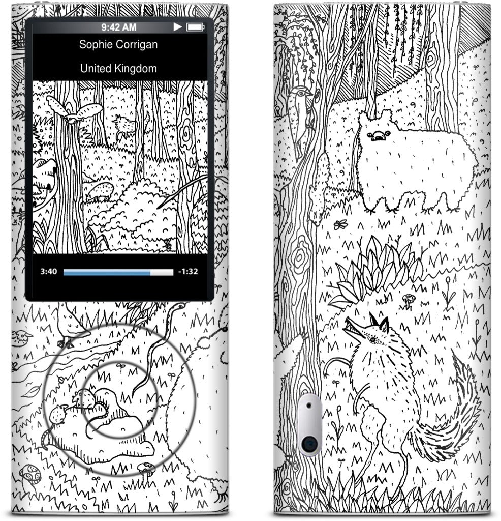 Diurnal Animals of the Forest iPod Skin