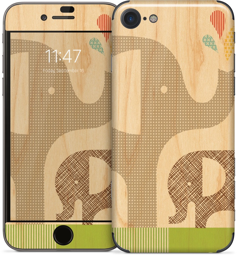 Elephant with Calf iPhone Skin
