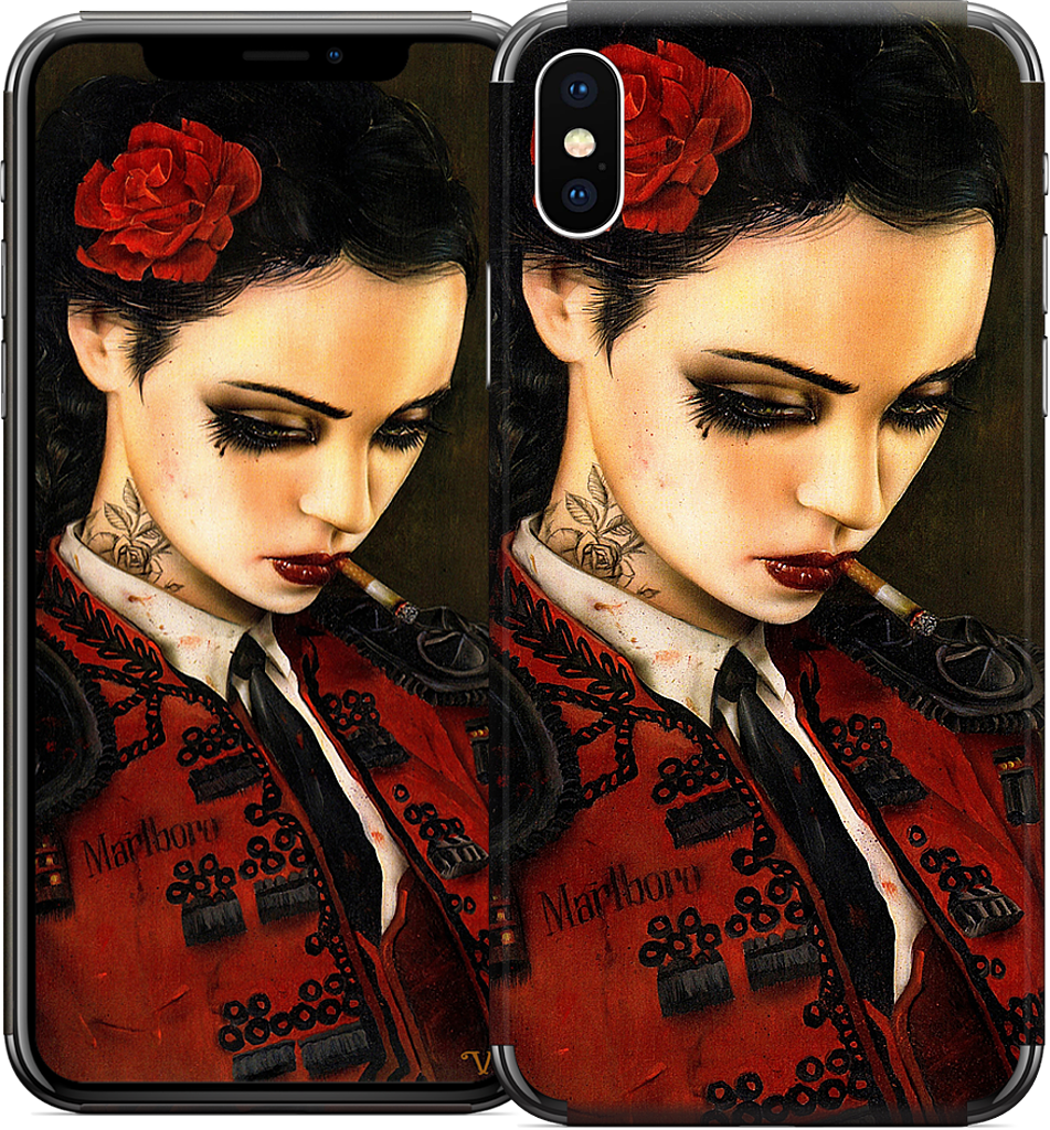 Bull Fight Her iPhone Skin