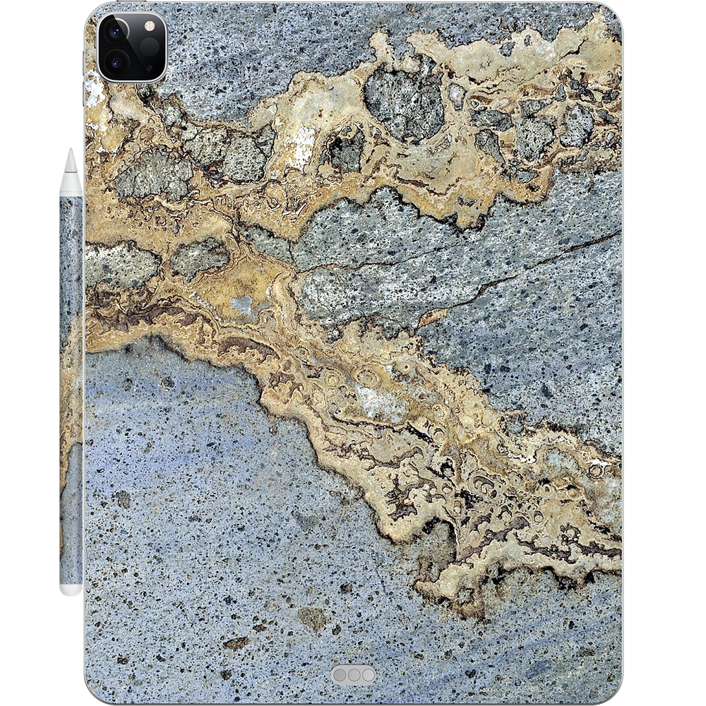 Blue and Gold Marble iPad Skin