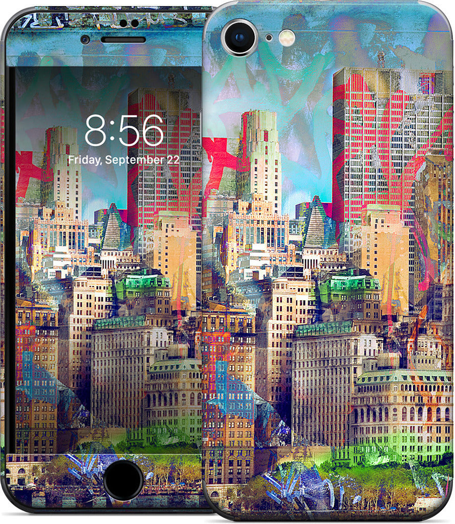 Graffiti Skyline iPhone Skin