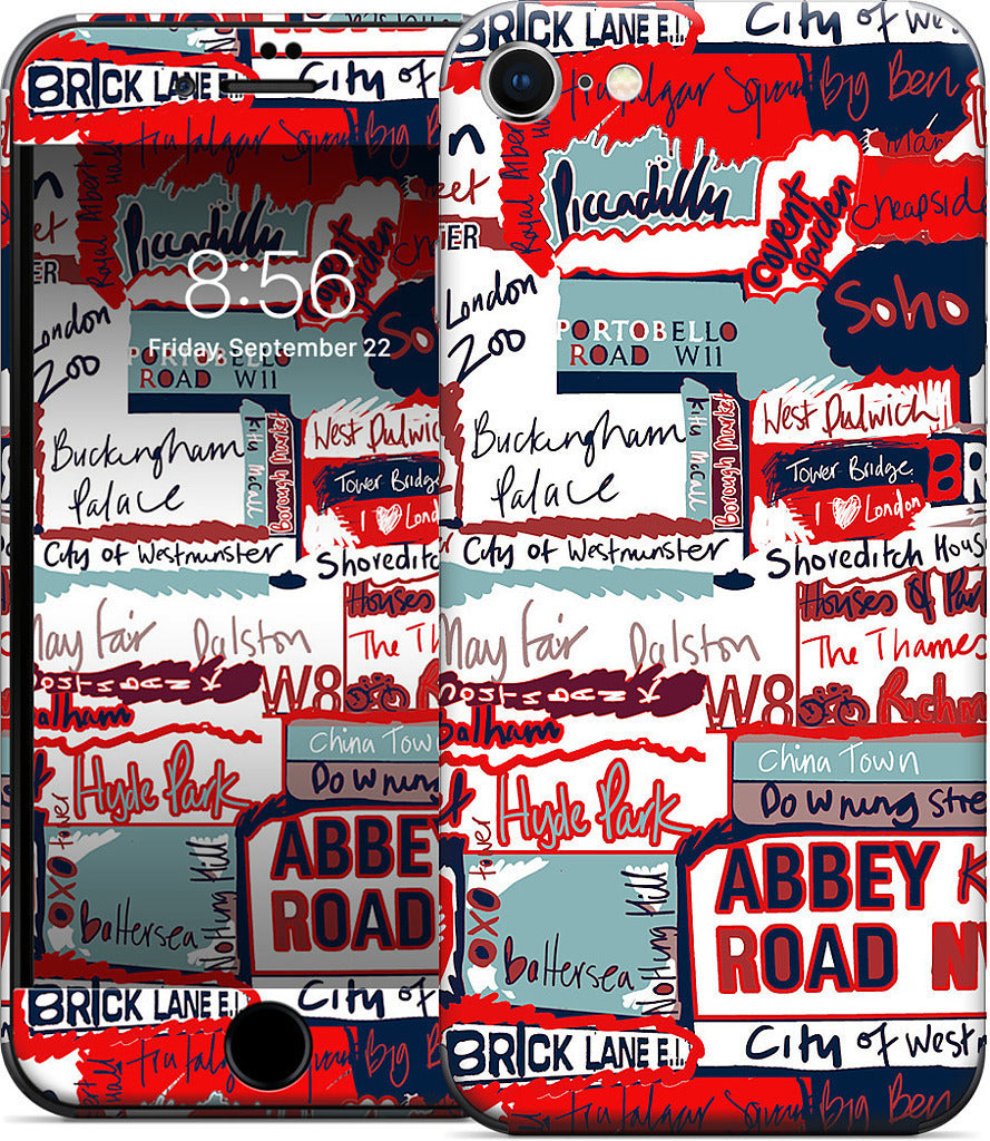 London Words iPhone Skin