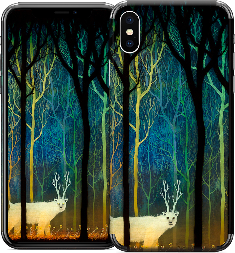 Profound Encounters Amid the Forest Deep iPhone Skin