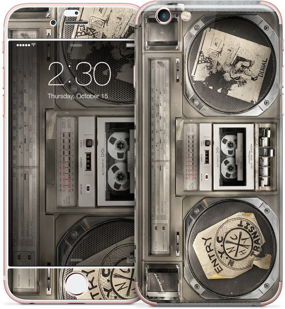 Boombox II iPhone Skin