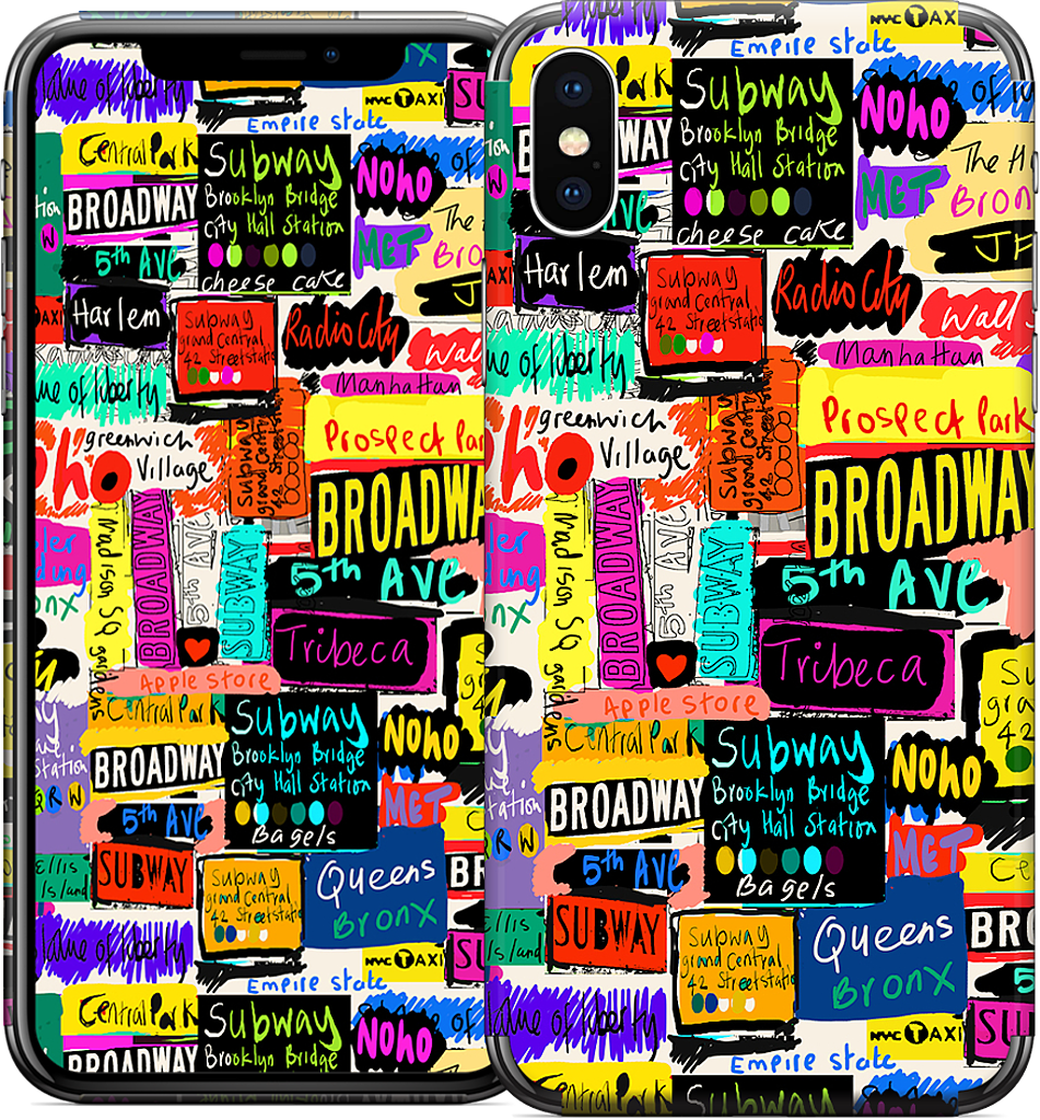 NYC Words iPhone Skin