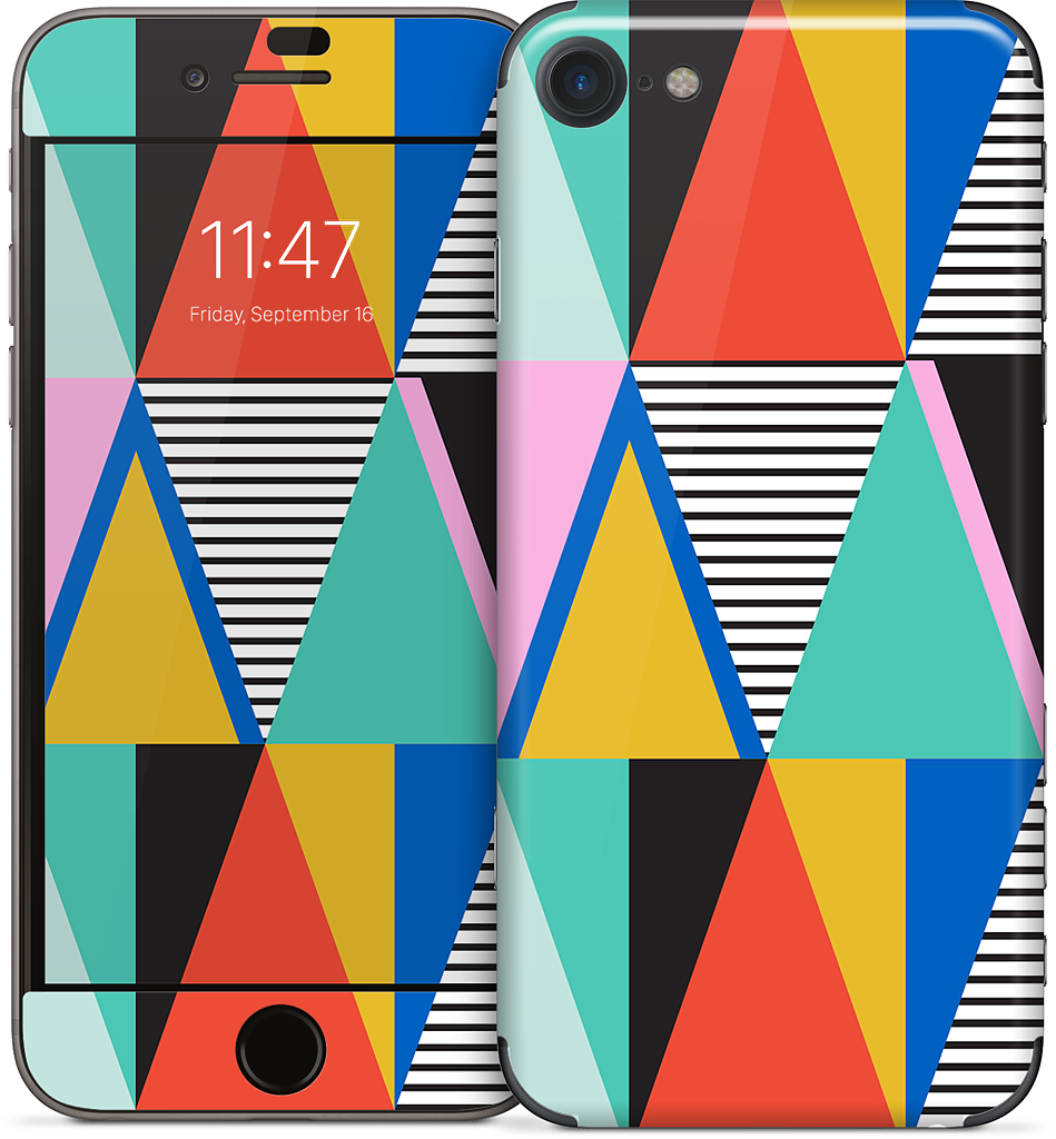 Graphic Triangles iPhone Skin