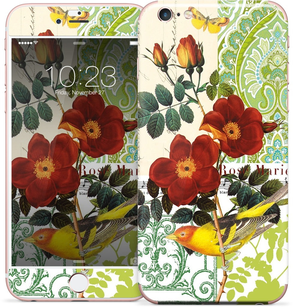 Rose Collage iPhone Skin