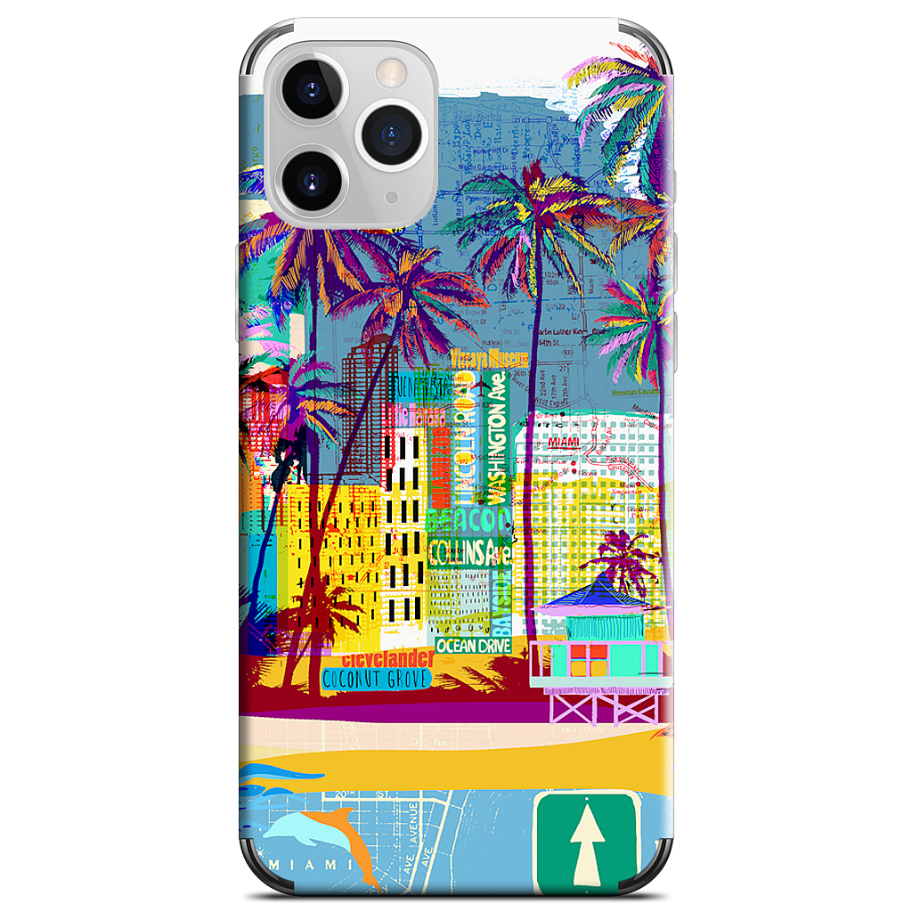 Miami iPhone Skin