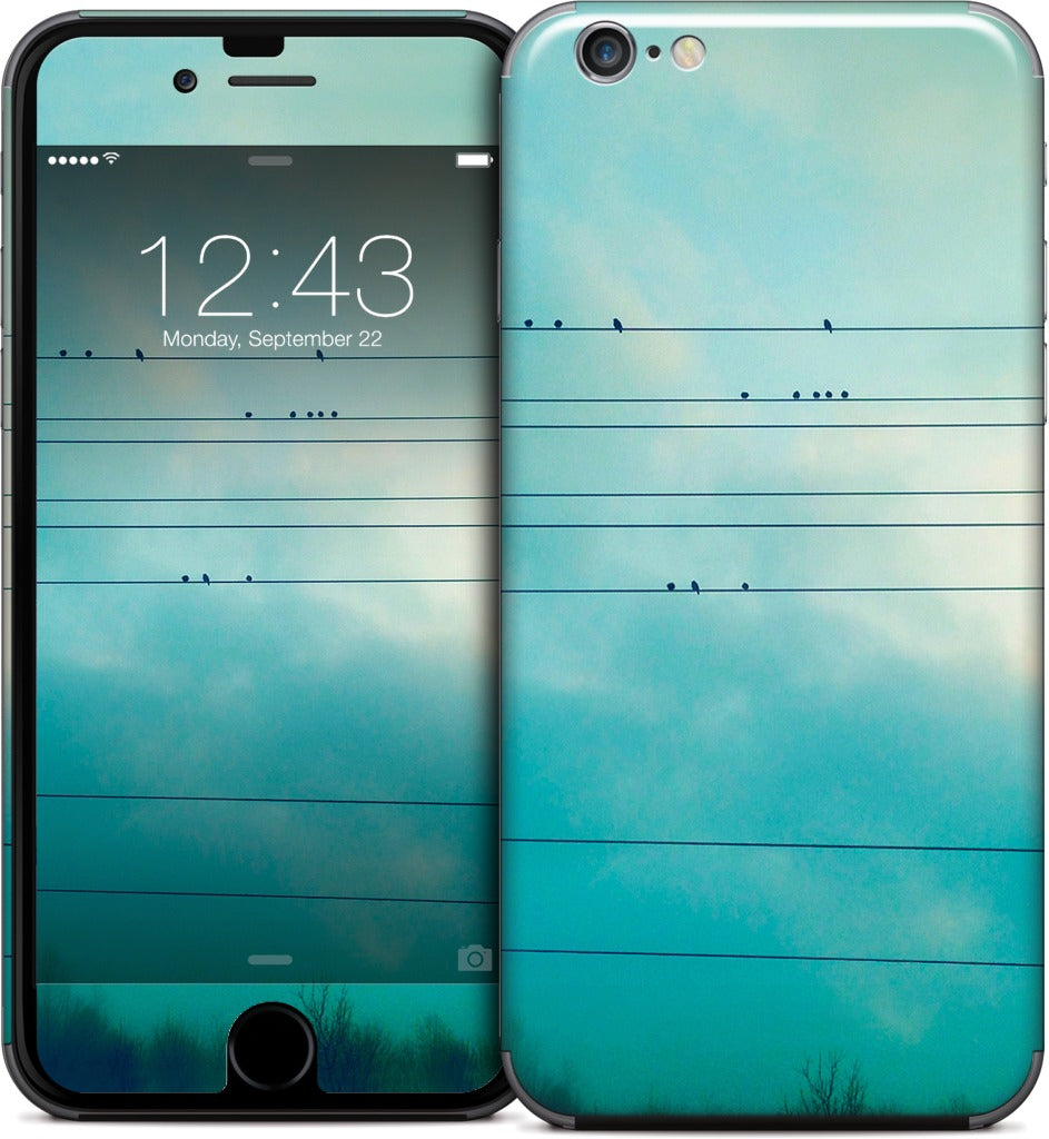 Birds on a wire iPhone Skin