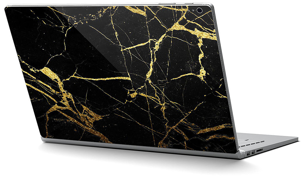 Black and Gold Marble Microsoft Skin