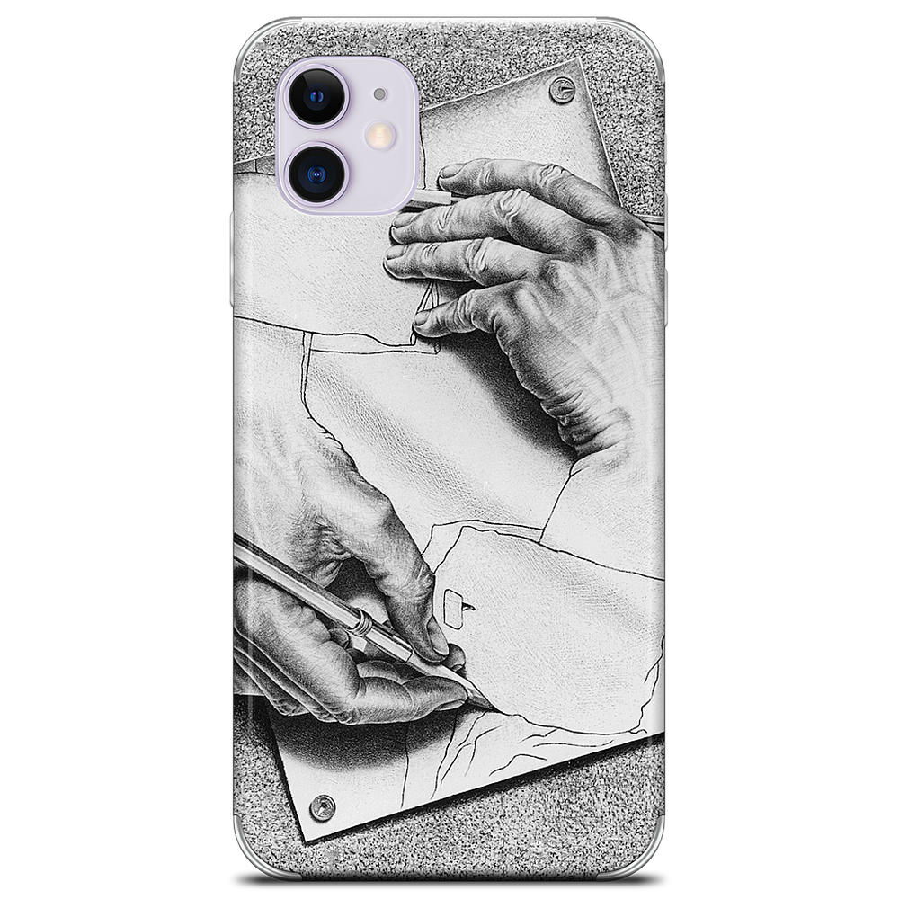 Drawing Hands iPhone Skin