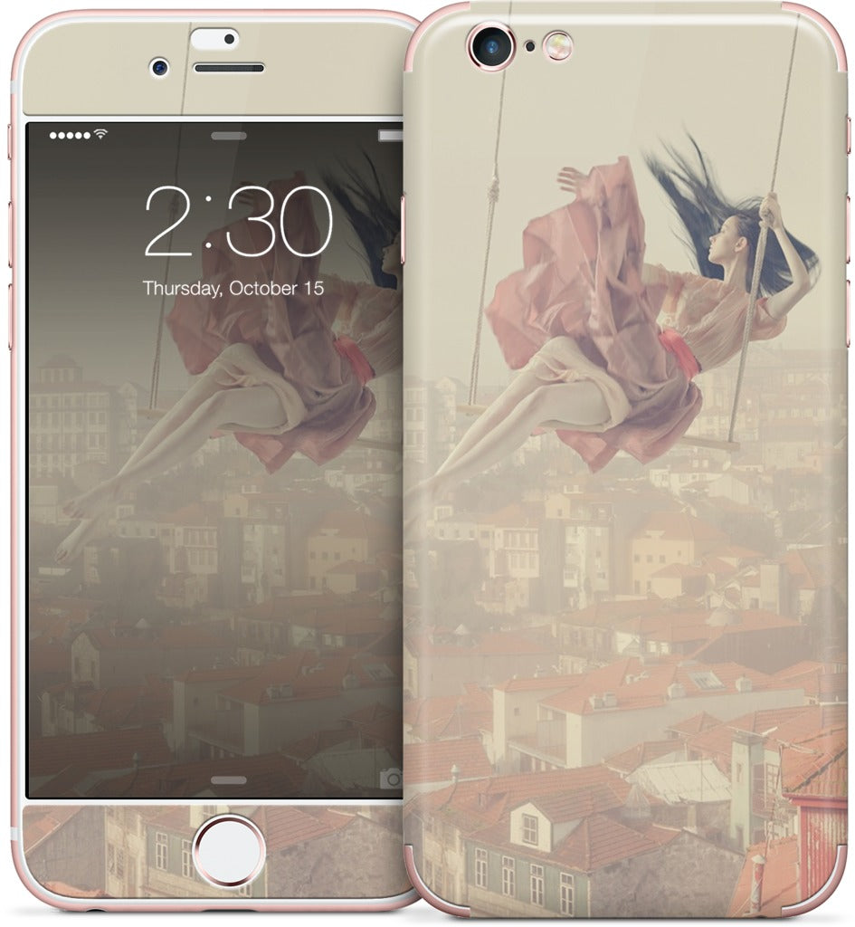Swinging Over Oporto iPhone Skin