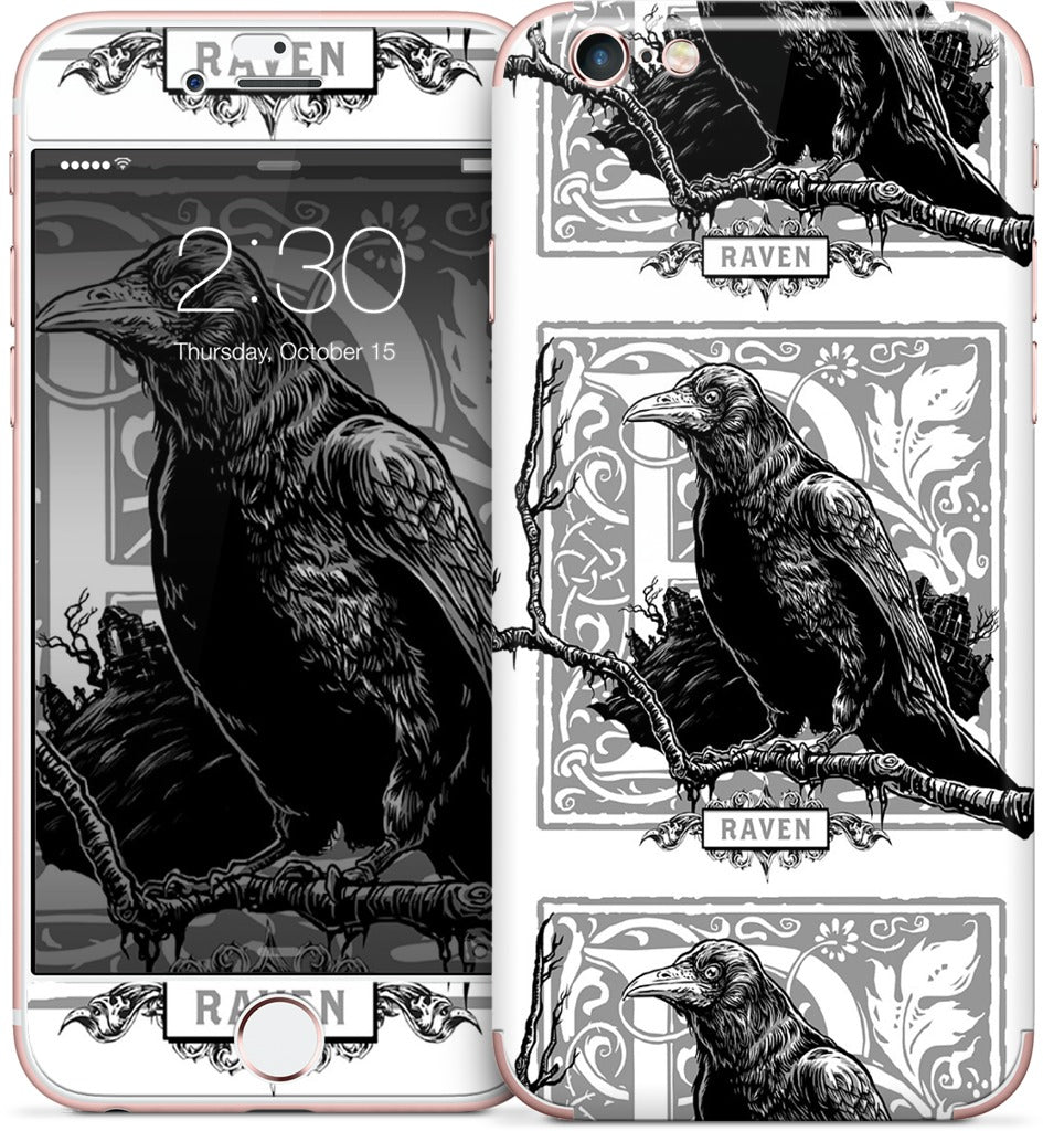 R Is For Raven iPhone Skin
