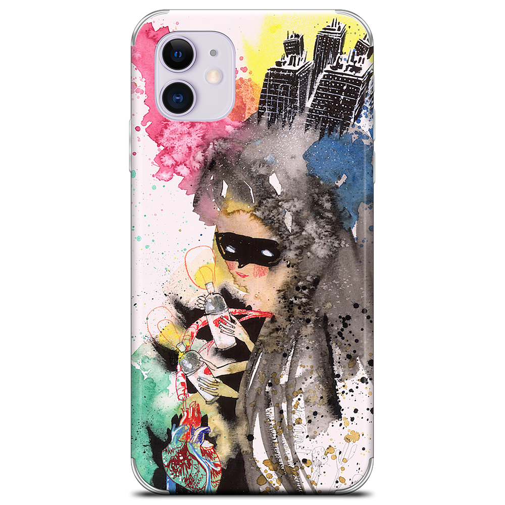 Skull Boom & Mysterious Paint Girl iPhone Skin