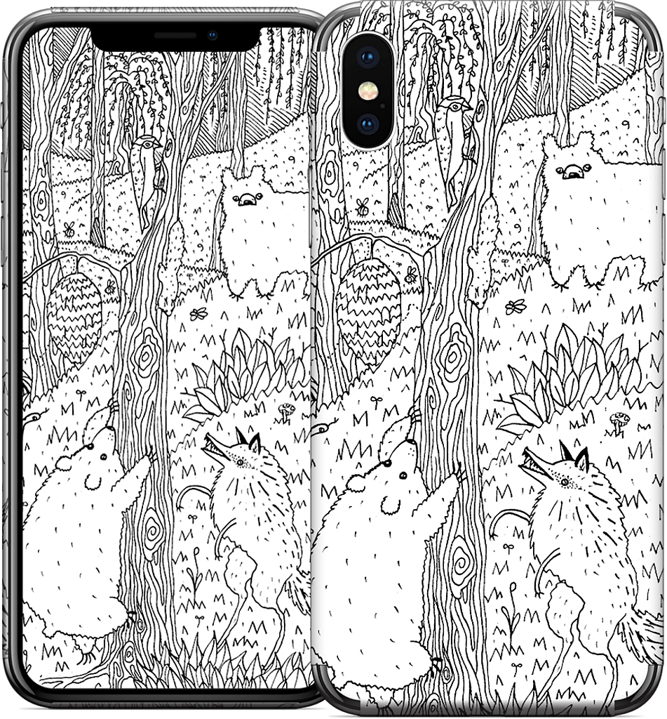 Diurnal Animals of the Forest iPhone Skin