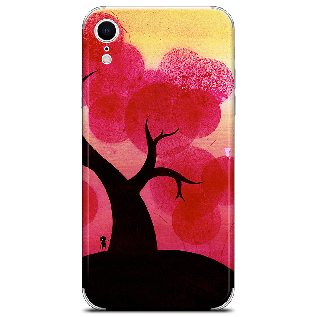 Red Blossoms iPhone Skin