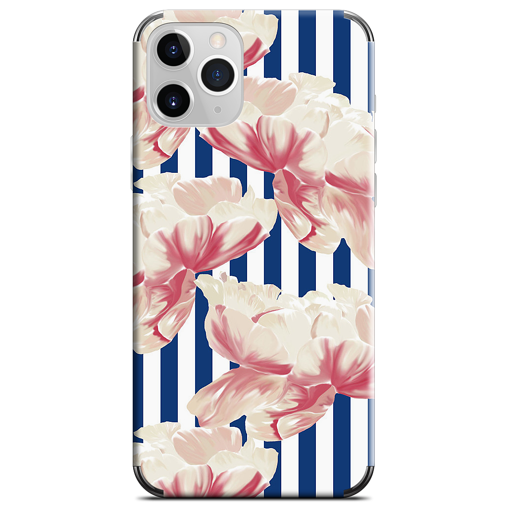 Stripe Floral iPhone Skin