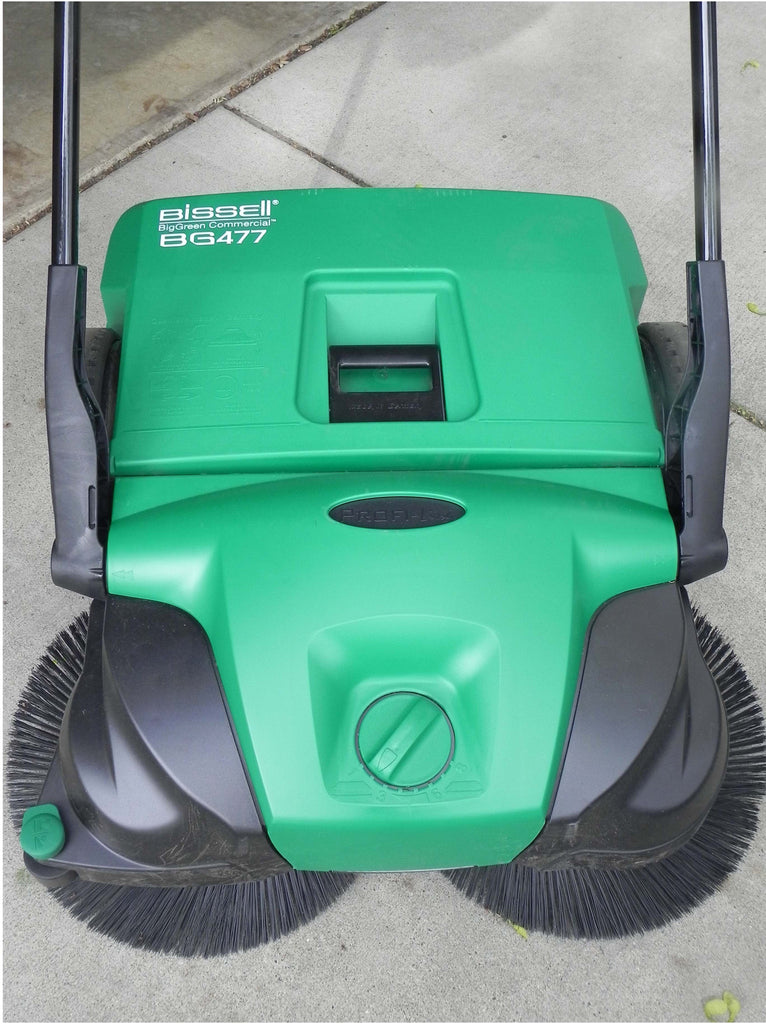 bissell biggreen commercial bg477 deluxe turbo sweeper free shipping