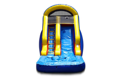 Blue & Yellow Slide with Pool