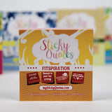 Fitness, Diet & Exercise Themed Sticky Notes - Active Healthy Lifestyle Notes