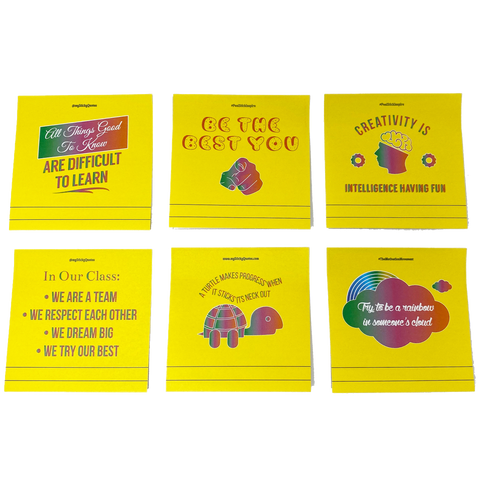 Back to School Sticky Notes - Motivational Education & Learning Quotes