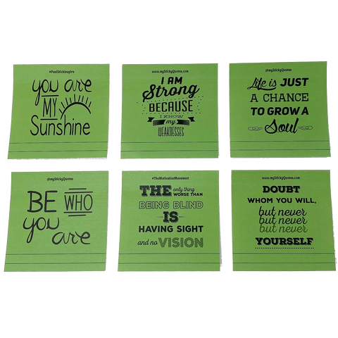 Sticky Notes Motivational Quotes - Random Acts of Kindness
