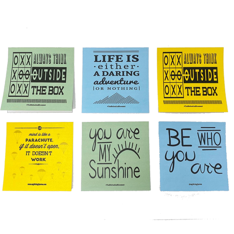 Sticky Notes Inspirational Quotes - Motivational Lunch Boxes