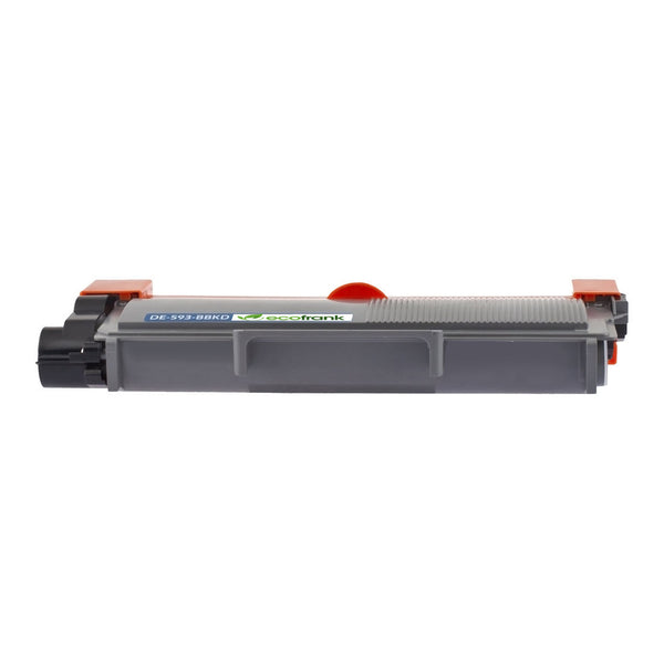 EcoFrank Compatible High Yield Toner Cartridge Replacement for DELL 593-BBKD PVTHG 593-BBKC 2RMPM (Black, 1-Pack)