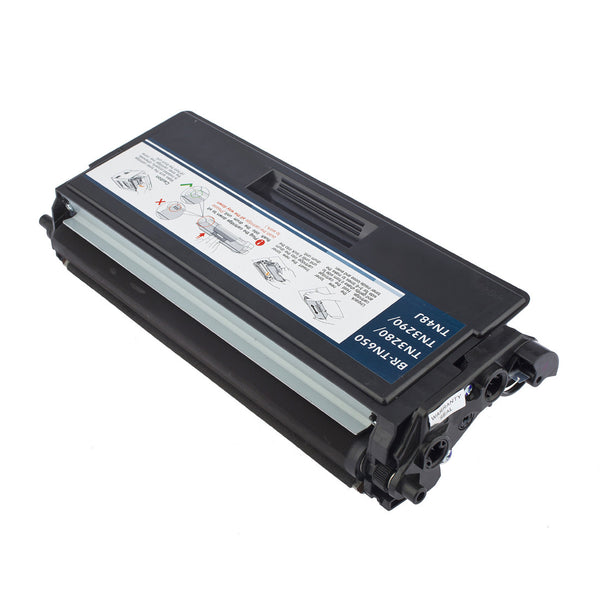EcoFrank Compatible High Yield Toner Cartridge Replacement for Brother TN650 TN620 (Black, 2-Pack)