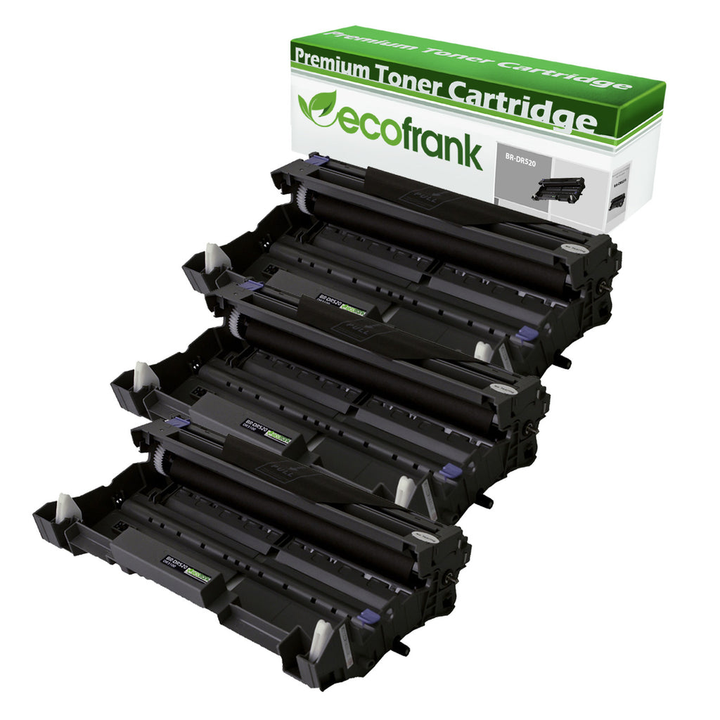 EcoFrank Compatible Drum Unit Replacement for Brother DR520 (Black, 3-Pack)