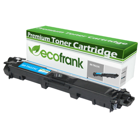 EcoFrank Compatible (High Yield) Toner Cartridge Replacement for Brother TN225C (Cyan, 1-Pack)