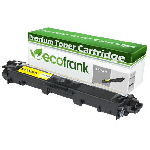 EcoFrank Compatible (High Yield) Toner Cartridge Replacement for Brother TN225Y (Yellow, 1-Pack)