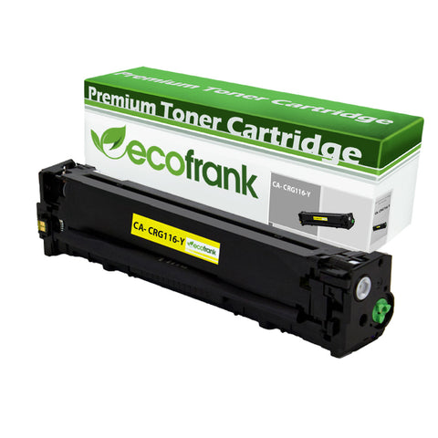 EcoFrank Compatible Toner Cartridge Replacement for Canon 116 1977B001AA (Yellow, 1 Pack)