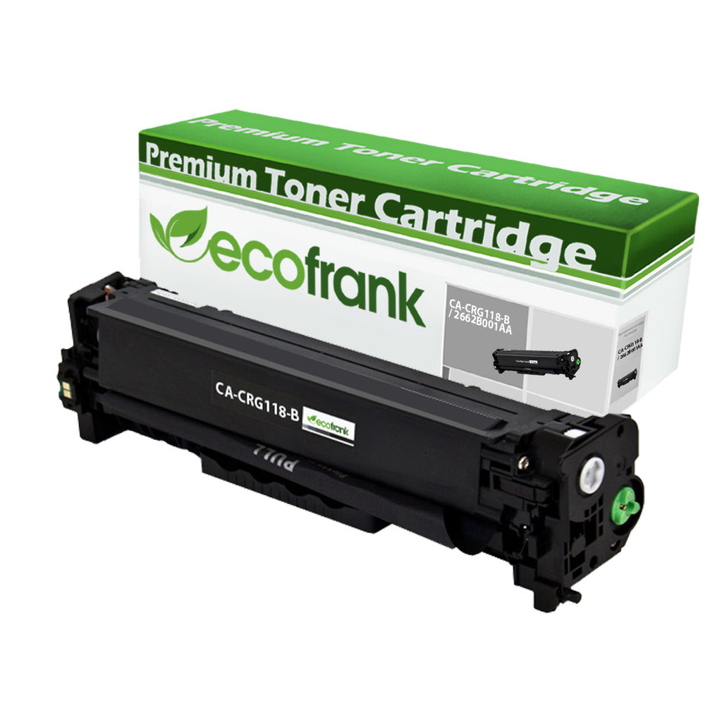 EcoFrank Compatible Toner Cartridge Replacement for Canon 118 (CRG-118) 2662B001AA (Black, 1-Pack)