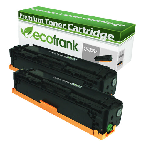 EcoFrank Compatible High Yield Toner Cartridge Replacement for Canon 131H 6273B001AA (Black, 2-Pack)