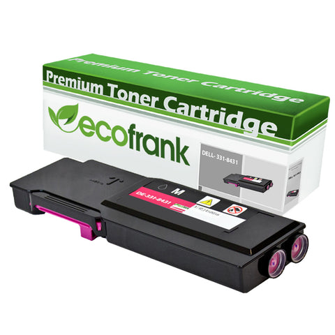 EcoFrank Compatible (Extra High Yield) Toner Cartridge Replacement for DELL 331-8431 40W00 (Magenta, 1-Pack)