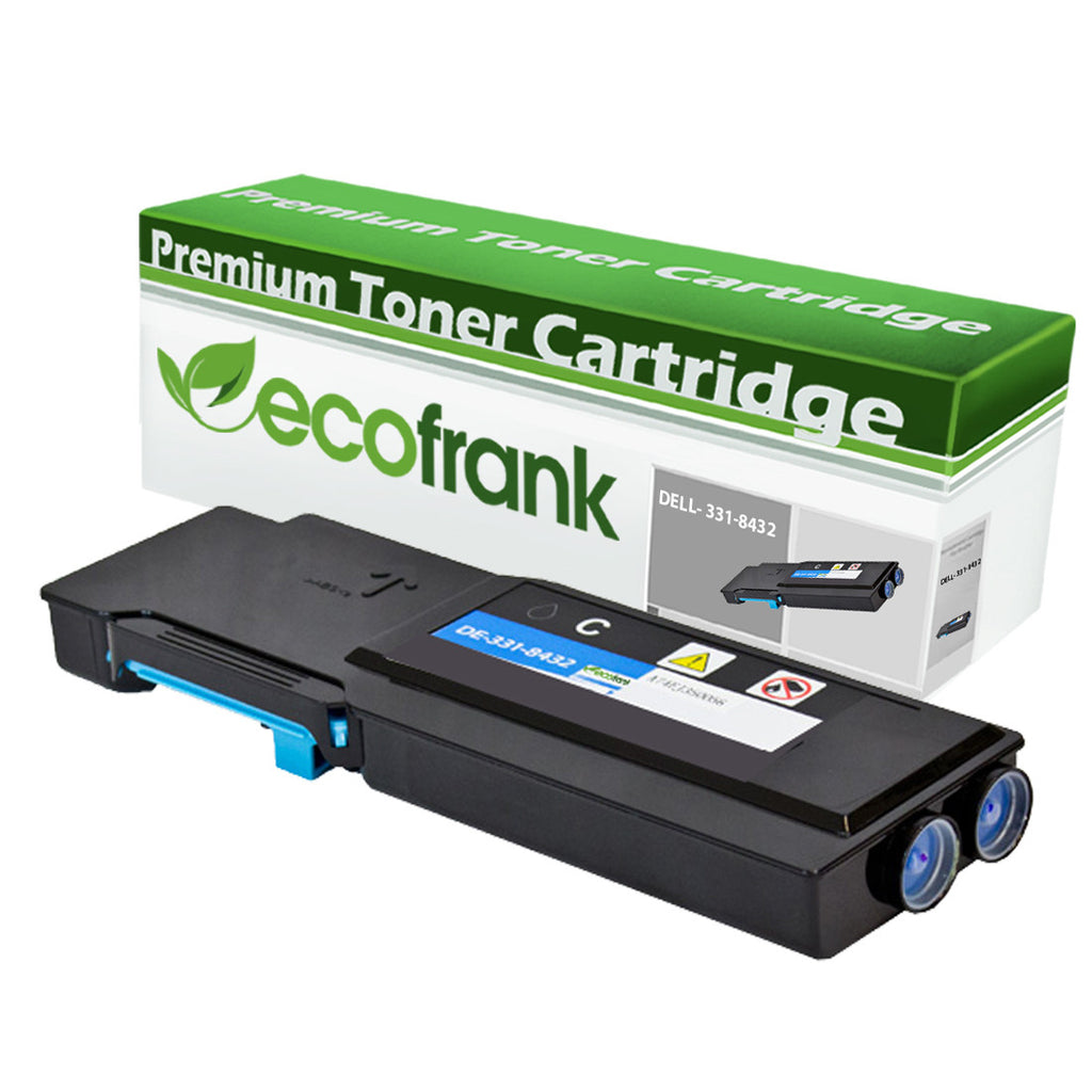 EcoFrank Compatible (Extra High Yield) Toner Cartridge Replacement for DELL 331-8432 FMRYP (Cyan, 1-Pack)