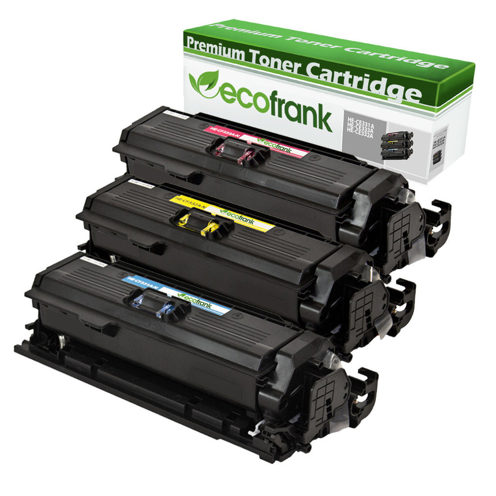 EcoFrank Compatible Toner Cartridge Replacement for HP 654A CF332A CF333A CF331A (Cyan, Magenta, Yellow)